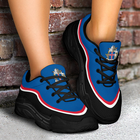 1stIceland Chunky Sneakers, Iceland Flag Coat Of Arms TH0 1 - 1st Iceland