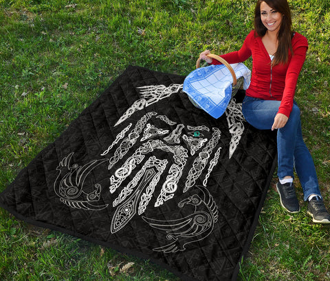 1stIceland Viking Premium Quilt, Odin's Eye with Raven K4 - 1st Iceland