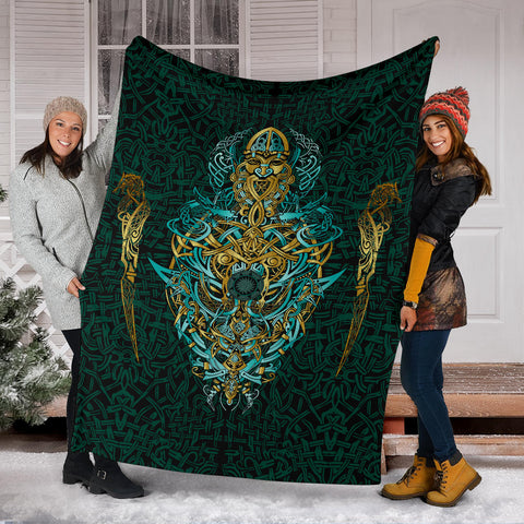 Image of 1stIceland Viking Premium Blanket, Fenrir The Vikings Wolves Th00 - 1st Iceland