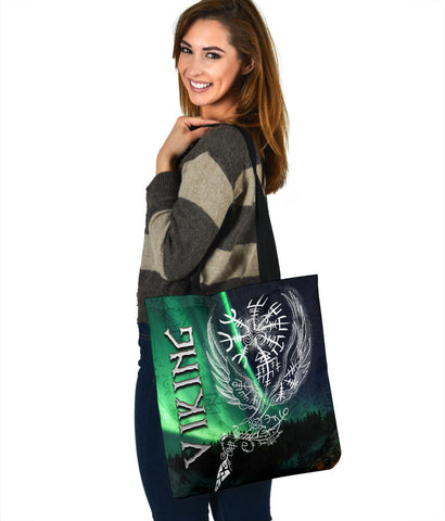 1stIceland Viking Tote Bag Northern Lights TH12