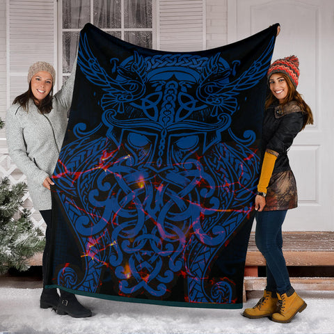 Image of Vikings Premium Blanket, Odin The All Father Th00 - 1st Iceland