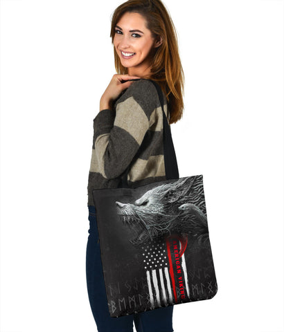 1stIceland American Viking Fenrir Tote Bag TH12 - 1st Iceland