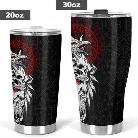 1stIceland Viking Odin And Raven Tumbler TH12