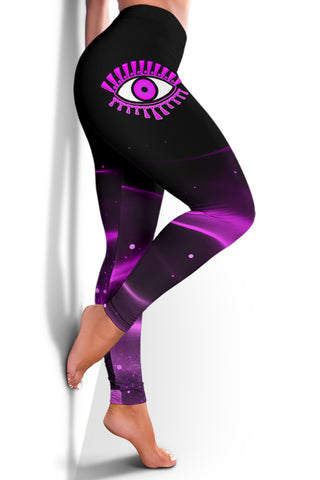 Image of 1stIceland Evil Eye Women Leggings Original Style - Pink K8 - 1st Iceland