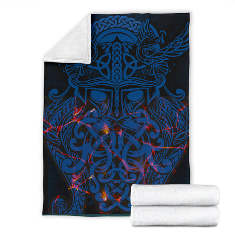 Vikings Premium Blanket, Odin The All Father Th00 - 1st Iceland