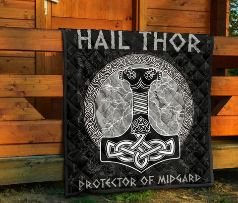 1stIceland Viking Premium Quilt, Hail Thor Protector Of Midgard A79 - 1st Iceland