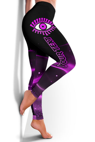 Image of (Custom Personalised) 1stIceland Evil Eye Women Leggings Original Style - Pink K8 - 1st Iceland