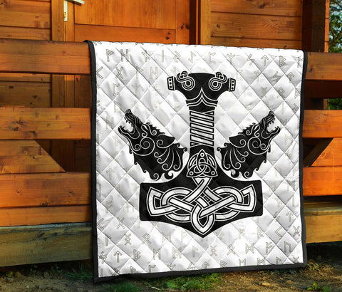1stIceland Viking Premium Quilt, Mjolnir Fenrirs Skoll And Hati Runes A79 - 1st Iceland