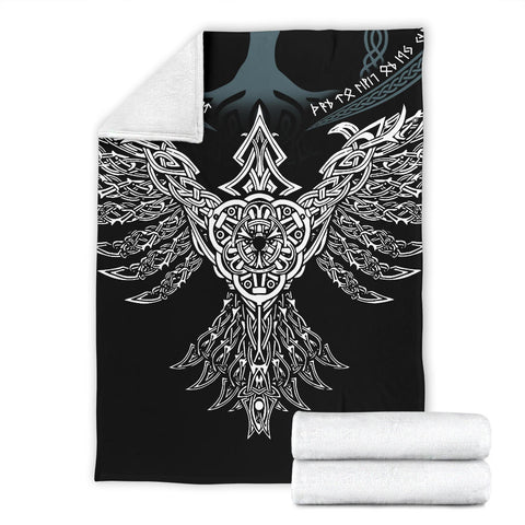 Image of 1stIceland Viking Premium Blanket, Raven Th00 - 1st Iceland