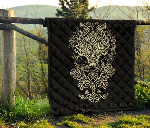 Image of 1stIceland Viking Wolf Fenrir Premium Quilt TH12 - 1st Iceland