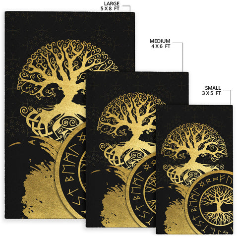 1stIceland Viking Yggdrasil Area Rug Gold TH4 - 1st Iceland