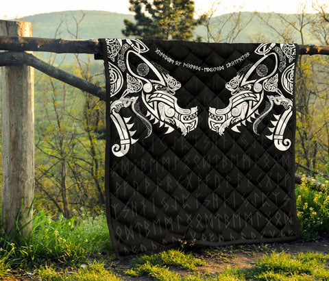 Image of 1stIceland Viking Premium Quilt, Fenrir Tattoo The Ragnarok K4 - 1st Iceland