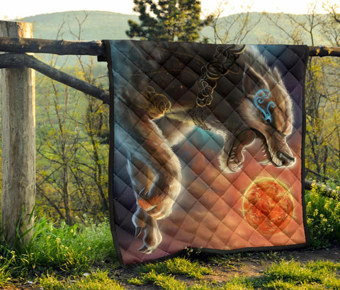 Image of 1stIceland Viking Quilt, Fenrir Norse Wolf K5 - 1st Iceland