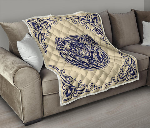 1stIceland Viking Premium Quilt , Valknut Huggin And Muninn Th00 - 1st Iceland