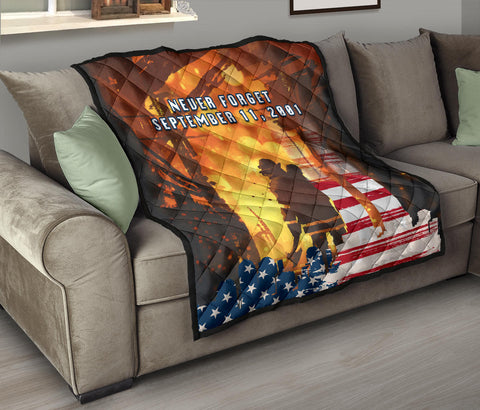Image of 1stIceland American Firefighters Premium Quilt 9.11.01 Never Forget K8 - 1st Iceland