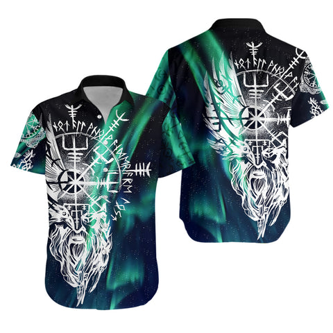 1stIceland Viking Hawaiian Shirt Odin And Northern Lights TH12 - 1st Iceland