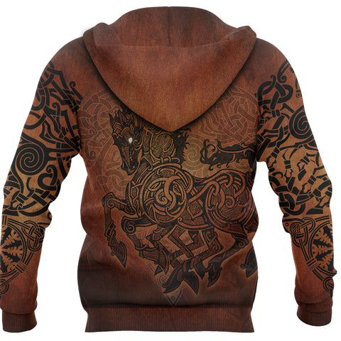1stIceland Viking Sleipnir Zip-Hoodie TH4