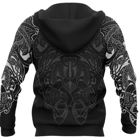 1stIceland Viking Sleipnir Tattoo Zip-Hoodie TH4