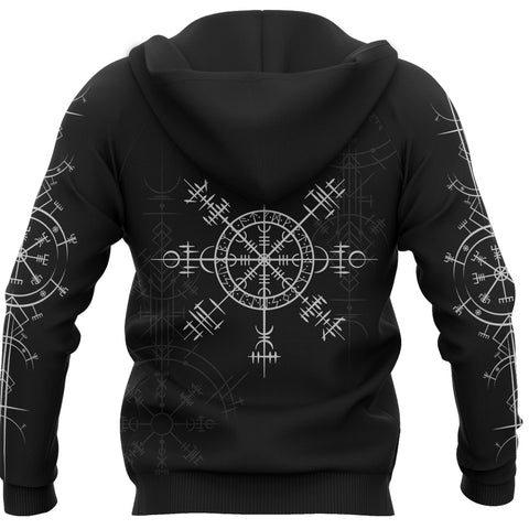 1stIceland Magic Ancient Viking Tattoo Zip-Hoodie TH4 - 1st Iceland