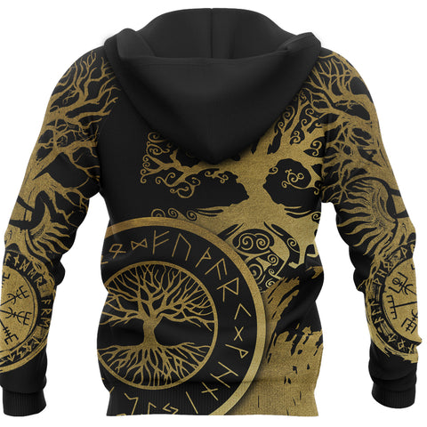 Image of 1stIceland Viking Yggdrasil Hoodie Gold TH4 - 1st Iceland