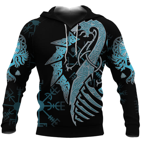 1stIceland Phoenix Celtics Viking Hoodie Blue TH4 - 1st Iceland