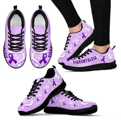 Fibromyalgia awareness sneaker shoes - 1st Iceland