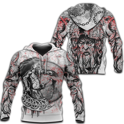 Image of 1stIceland Berserker 3D Printed Unisex Hoodie Tattoo TH12 - 1st Iceland