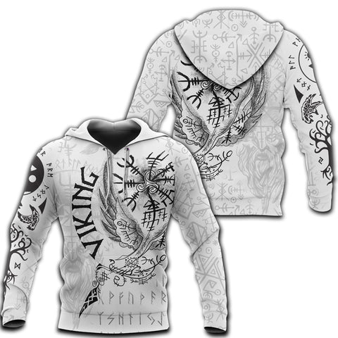 Image of 1stIceland Viking 3D Printed Unisex Hoodie Tattoo TH12 - 1st Iceland