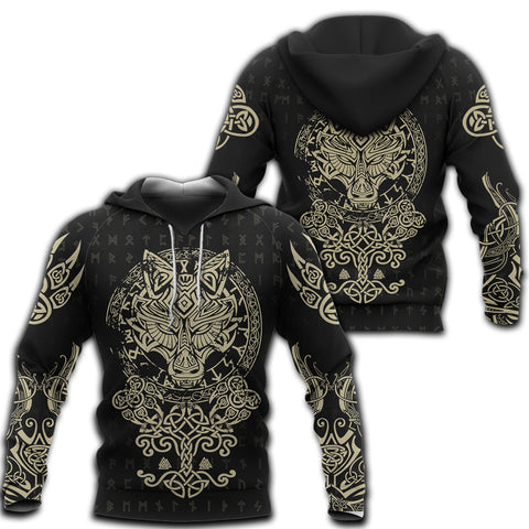 Image of 1stIceland Viking Wolf Fenrir Hoodie TH12 - 1st Iceland