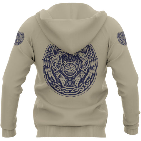 1stIceland Viking Pullover Hoodie, Valknut Raven Of Odin Th00 - 1st Iceland