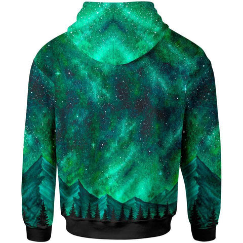 1stIceland Mountain Aura Galaxy Zip Hoodie TH5