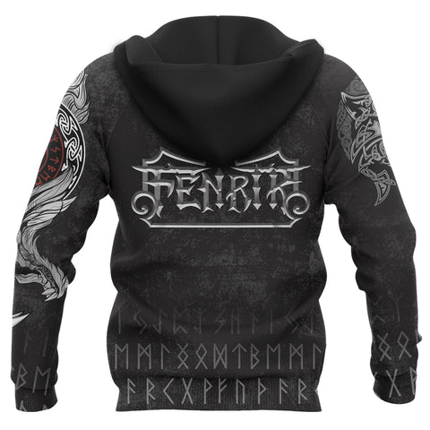 Image of 1stIceland American Viking Fenrir Zip Hoodie TH12 - 1st Iceland
