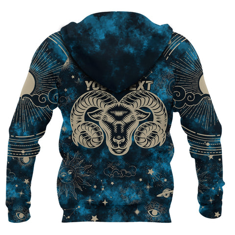 (Custom) 1stIceland Aries Zip Hoodie Zodiac | 1sticeland.com