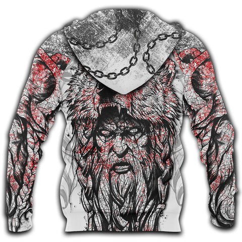 Image of 1stIceland Berserker 3D Printed Unisex Zip Hoodie Tattoo TH12 - 1st Iceland