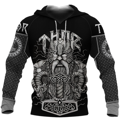 1stIceland Viking 3D Printed Unisex Hoodie Thor Hammer Beautiful | 1sticeland.com
