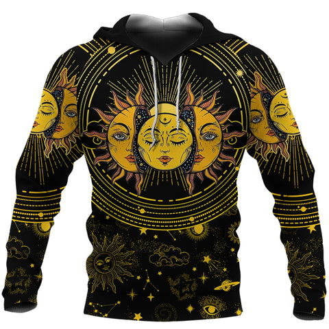 (Custom) 1stIceland Moon And Sun Hoodie | 1sticeland.com