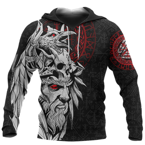 1stIceland Viking Odin And Raven Hoodie TH12 - 1st Iceland
