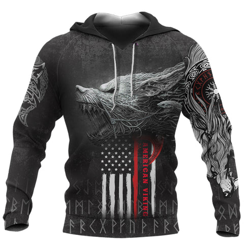 Image of 1stIceland American Viking Fenrir Hoodie TH12 - 1st Iceland