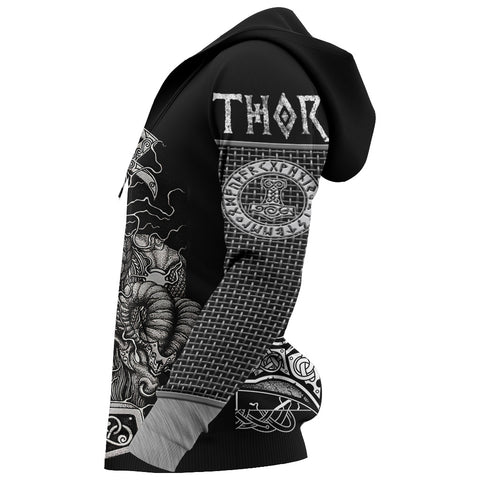1stIceland Viking 3D Printed Unisex Hoodie Thor Hammer Beautiful TH12 - 1st Iceland