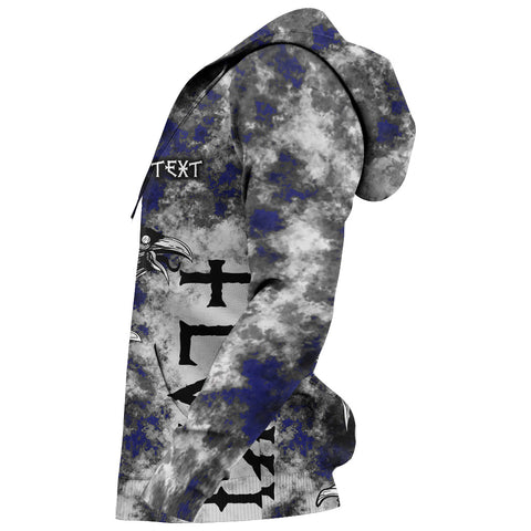 Image of (Custom) 1stIceland Viking Floki 3D Printed Unisex Hoodie Art Style - Blue TH12 - 1st Iceland