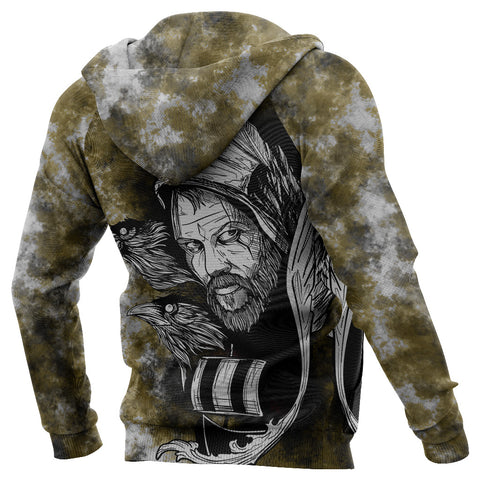 (Custom) 1stIceland Viking Floki 3D Printed Unisex Zip Hoodie Art Style - Yellow TH12 - 1st Iceland