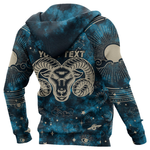 Image of (Custom) 1stIceland Aries Zip Hoodie Zodiac | 1sticeland.com