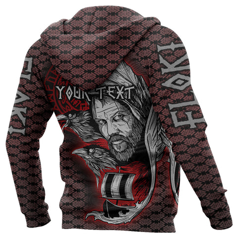 Image of (Custom) 1stIceland Viking Floki 3D Printed Unisex Hoodie Art Style Version Valknut Viking Pattern TH12 - 1st Iceland