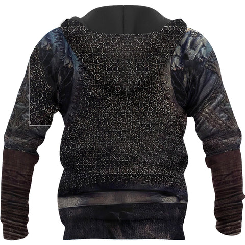 Image of 1stIceland Viking Pullover Hoodie, Valknut 3D Viking Armour Th00 - 1st Iceland