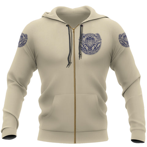 1stIceland Viking Zip Up Hoodie, Valknut Raven Of Odin Th00 - 1st Iceland