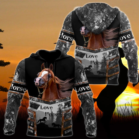 Image of 1st Iceland Beautiful Horse Hoodie TH12 - 1st Iceland