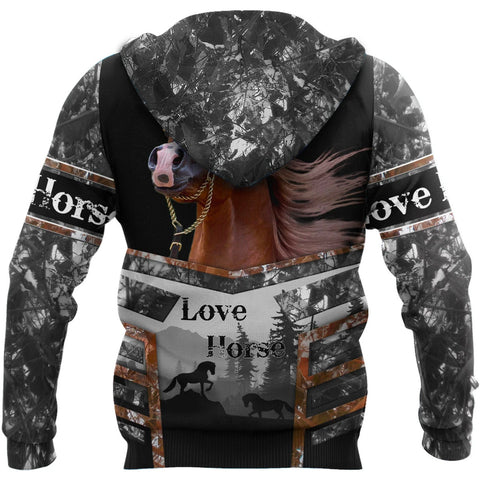 Image of 1sticeland Beautiful Horse Zip Hoodie TH12 - 1st Iceland