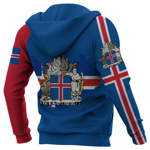 1stIceland Pullover Hoodie, Iceland Horse Coat Of Arms K4 - 1st Iceland