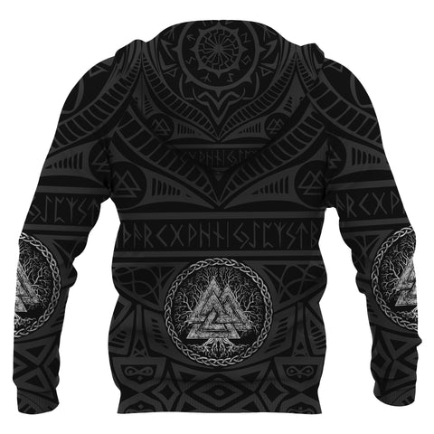 1stIceland Viking Pullover Hoodie, Iceland Coat Of Arms Valknut K4 - 1st Iceland