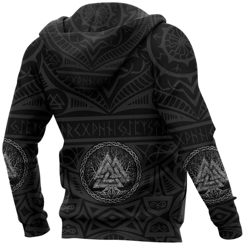 Image of 1stIceland Viking Pullover Hoodie, Iceland Coat Of Arms Valknut K4 - 1st Iceland